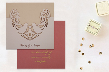 Laser Cut Wedding Invites - 123WeddingCards