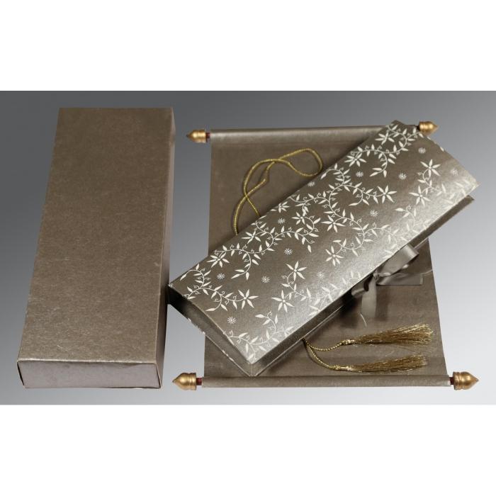 Black Handmade Shimmer Wedding Invitation : SC-5007A - 123WeddingCards