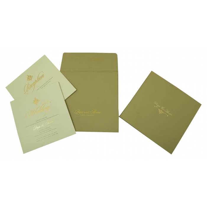 Black Matte Box Themed - Embossed Wedding Invitation : W-1824 - 123WeddingCards