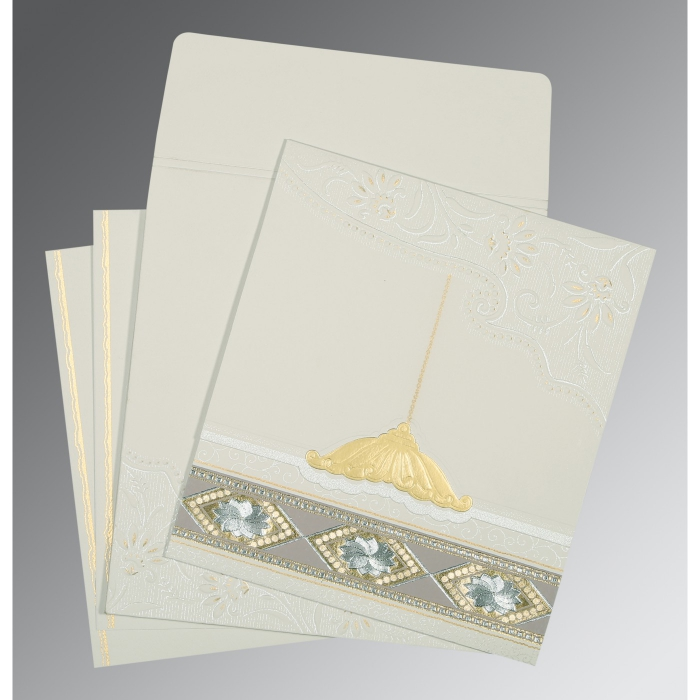 Black Matte Box Themed - Foil Stamped Wedding Card : I-1228 - 123WeddingCards