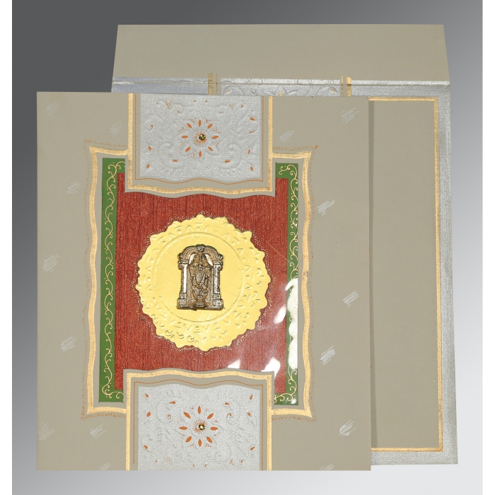 Black Matte Embossed Wedding Card : SO-1144 - 123WeddingCards