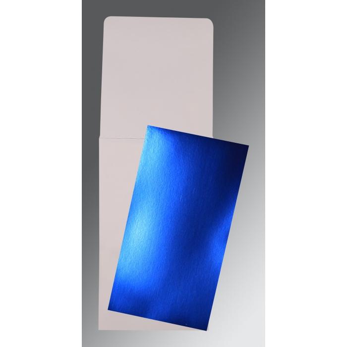 Blue Glossy Wedding Card : P-0012 - 123WeddingCards