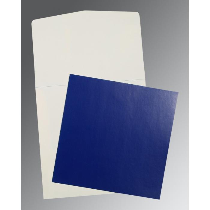 Blue Glossy Wedding Card : P-0016 - 123WeddingCards