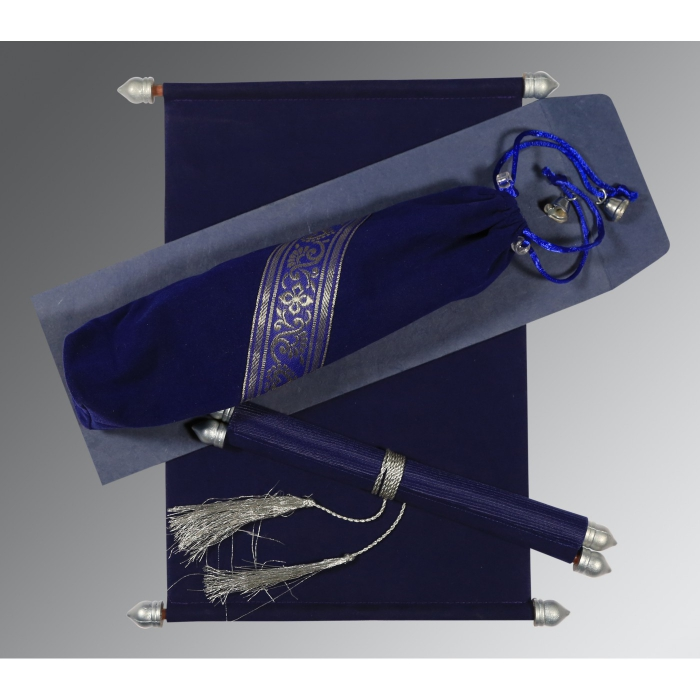 Blue Velvet Wedding Invitation : SC-5004C - 123WeddingCards