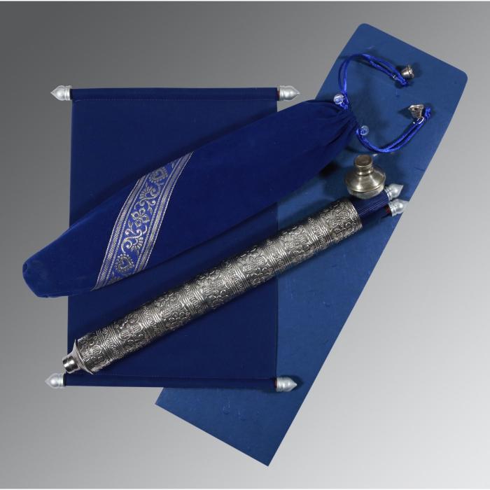 BLUE VELVET WEDDING CARD : SC-5005A - 123WeddingCards