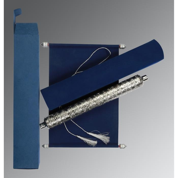 Blue Velvet Wedding Card : SC-5006D - 123WeddingCards