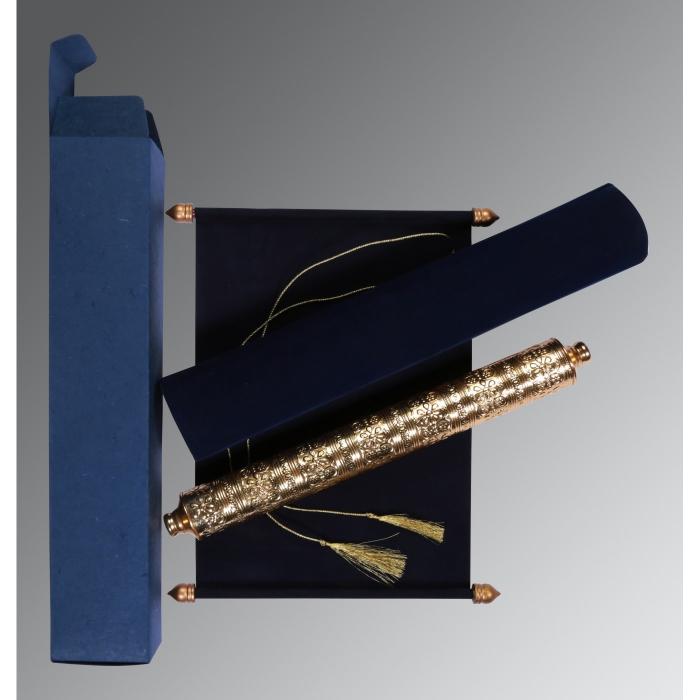 Blue Velvet Wedding Card : SC-5006J - 123WeddingCards
