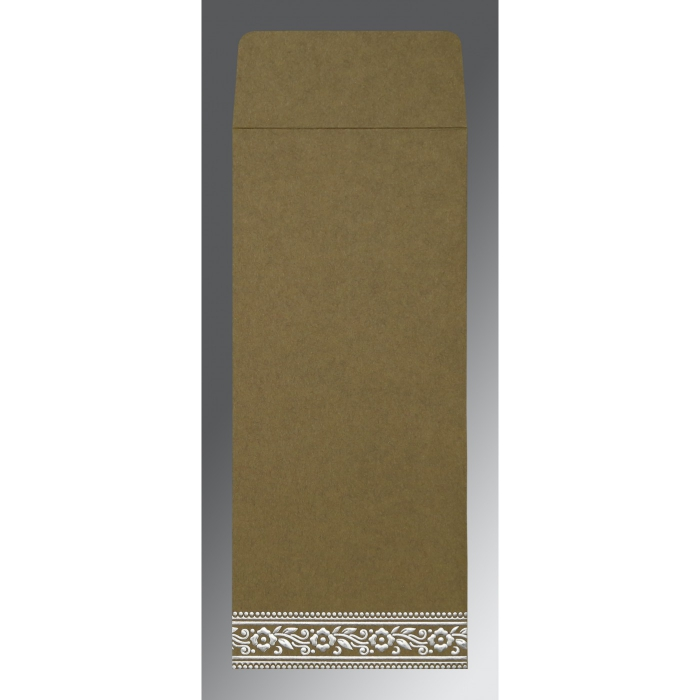 Green Wooly Screen Printed Wedding Invitation : G-8220Q - 123WeddingCards