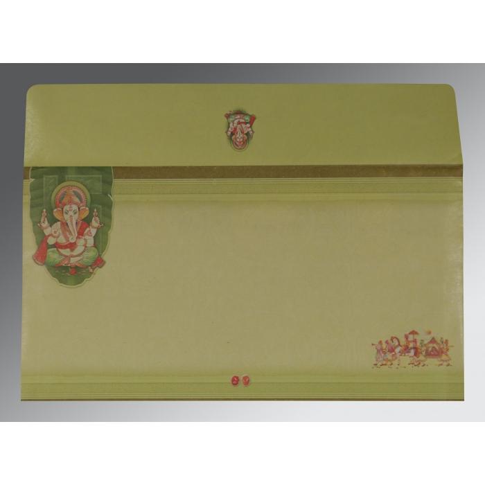 Ivory Embossed Wedding Card : IN-2226 - 123WeddingCards