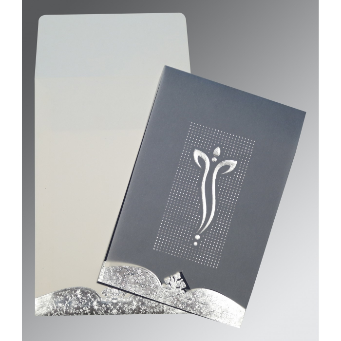 Ivory Foil Embossed Wedding Invitation : IN-2279 - 123WeddingCards