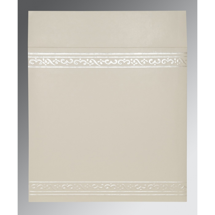 Ivory Matte Embossed Wedding Invitation : W-2016 - 123WeddingCards