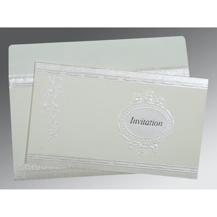 OFF-WHITE MATTE FOIL STAMPED WEDDING CARD : D-1328 - 123WeddingCards