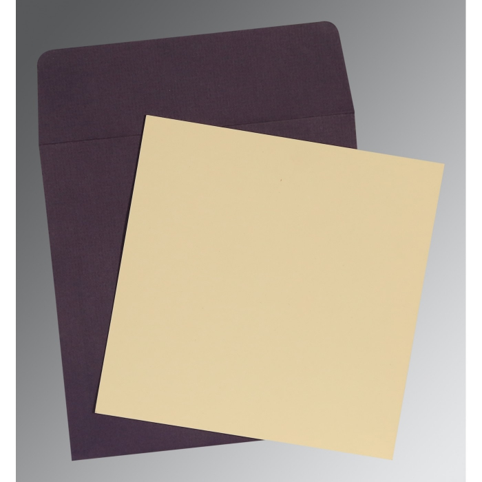 Ivory Matte Wedding Card : P-0001 - 123WeddingCards