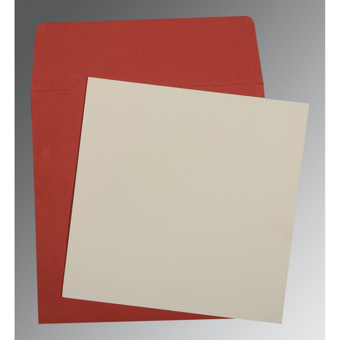 Ivory Matte Wedding Card : P-0003 - 123WeddingCards