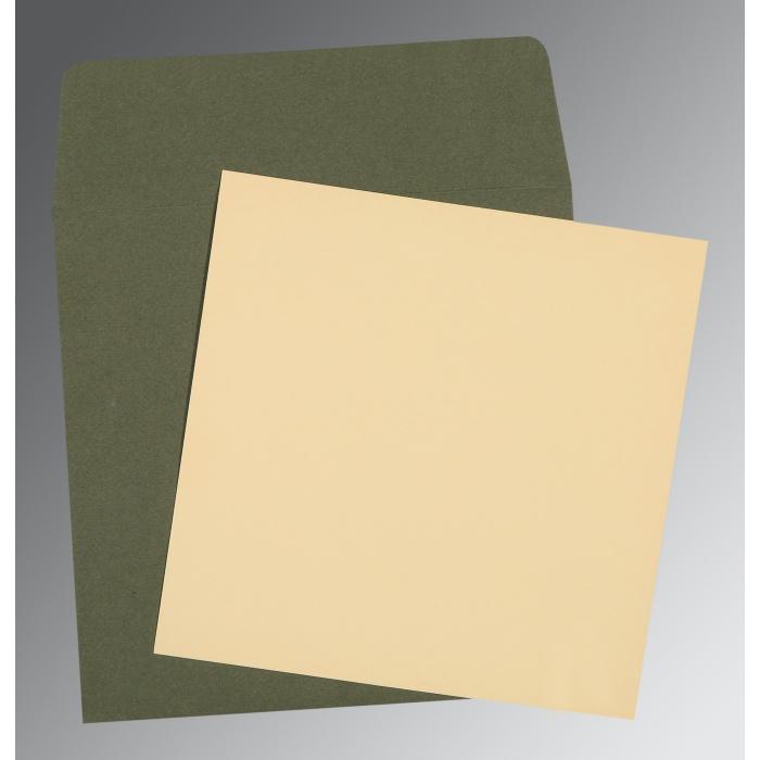 Ivory Matte Wedding Card : P-0004 - 123WeddingCards