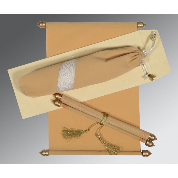 Ivory Velvet Wedding Invitation : SC-5004A - 123WeddingCards