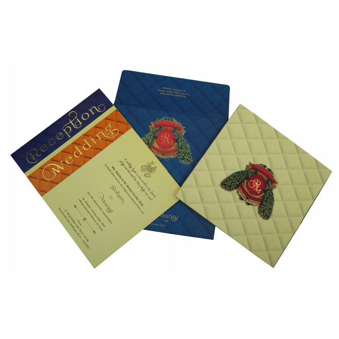 Matte Box Themed - Foil Stamped Wedding Invitation : W-1833 - 123WeddingCards