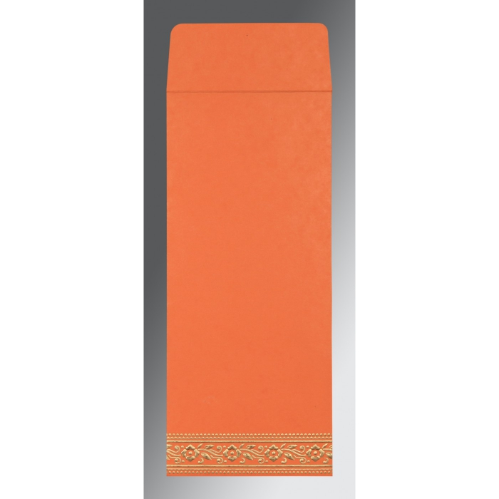 Orange Wooly Screen Printed Wedding Invitation : G-8220N - 123WeddingCards