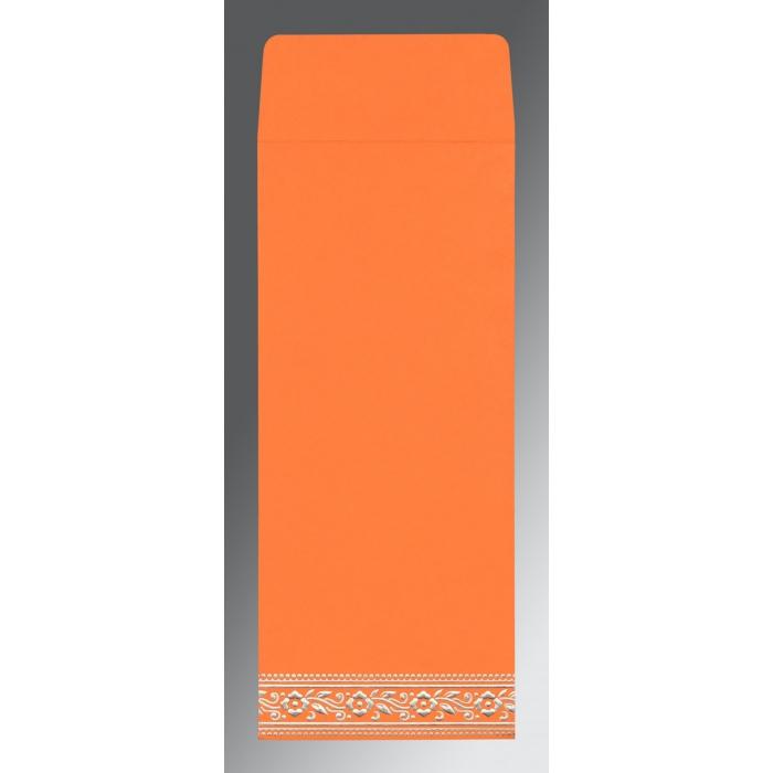 Orange Wooly Screen Printed Wedding Invitations : S-8220F - 123WeddingCards