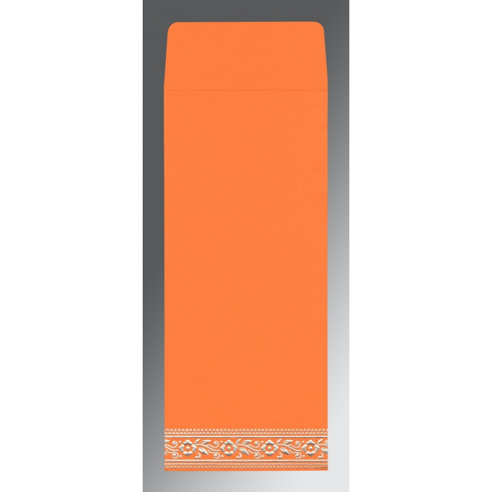 Orange Wooly Screen Printed Wedding Invitation : W-8220F - 123WeddingCards