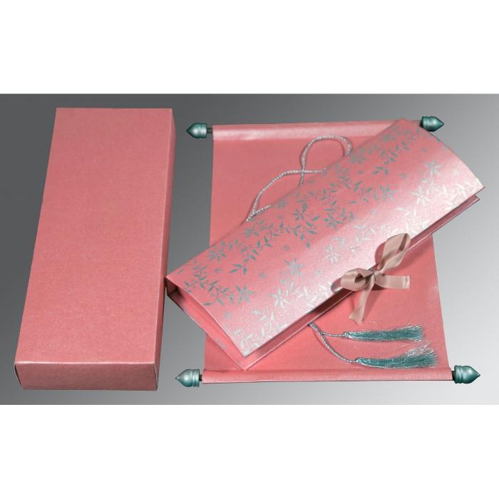 Pink Handmade Shimmer Wedding Invitation : SC-5007E - 123WeddingCards