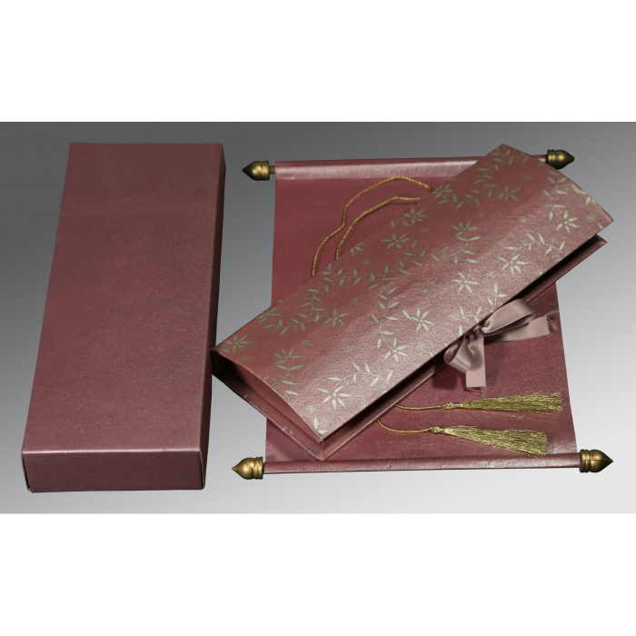 Purple Handmade Shimmer Wedding Invitation : SC-5007C - 123WeddingCards
