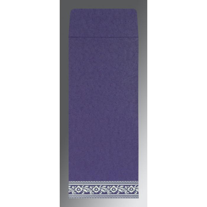 Purple Wooly Screen Printed Wedding Invitation : D-8220P - 123WeddingCards