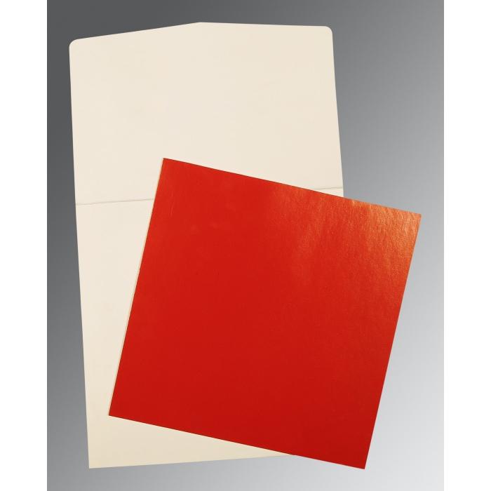 Red Glossy Wedding Card : P-0018 - 123WeddingCards