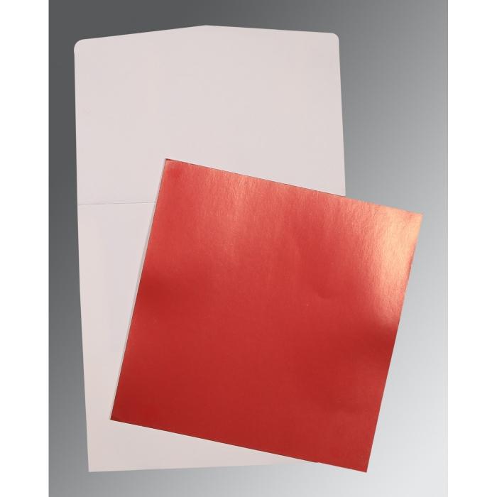 Red Glossy Wedding Card : P-0020 - 123WeddingCards