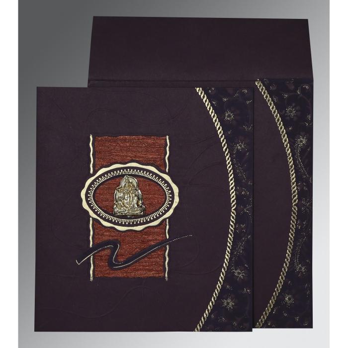 Red Matte Embossed Wedding Invitation : G-1169 - 123WeddingCards