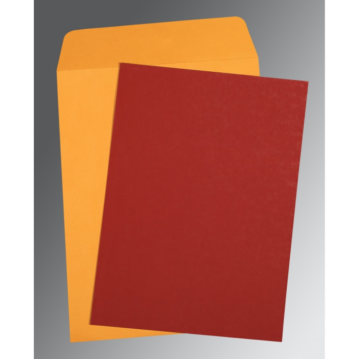 Red Matte Wedding Invitation : P-0031 - 123WeddingCards