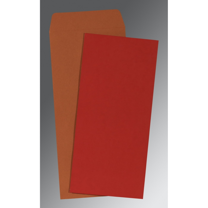 Red Matte Wedding Invitation : P-0035 - 123WeddingCards