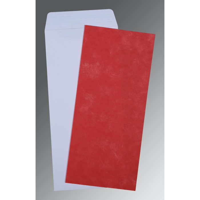 Red Matte Wedding Invitation : P-0039 - 123WeddingCards