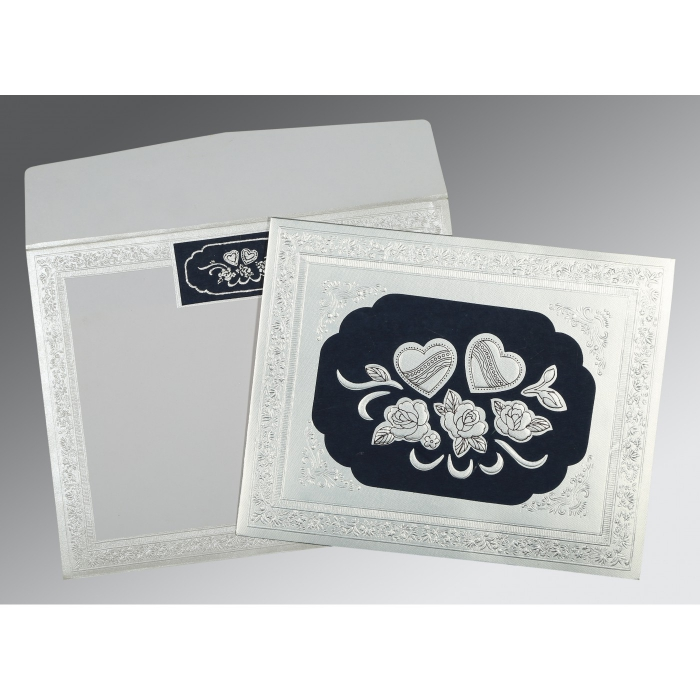 Shimmery Floral Themed - Embossed Wedding Invitations : D-1325 - 123WeddingCards
