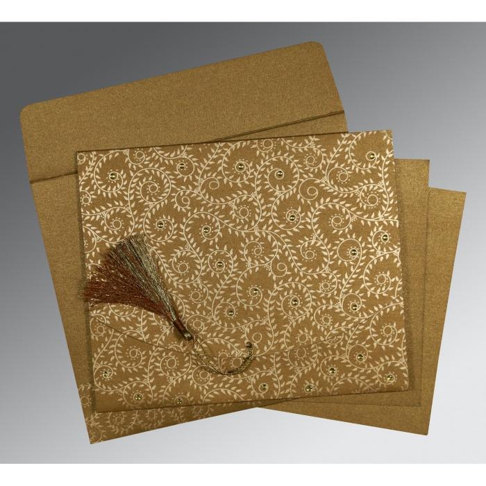 Shimmery Screen Printed Wedding Invitations : G-8217C - 123WeddingCards