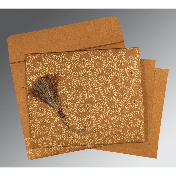 Shimmery Screen Printed Wedding Invitation : IN-8217I - 123WeddingCards