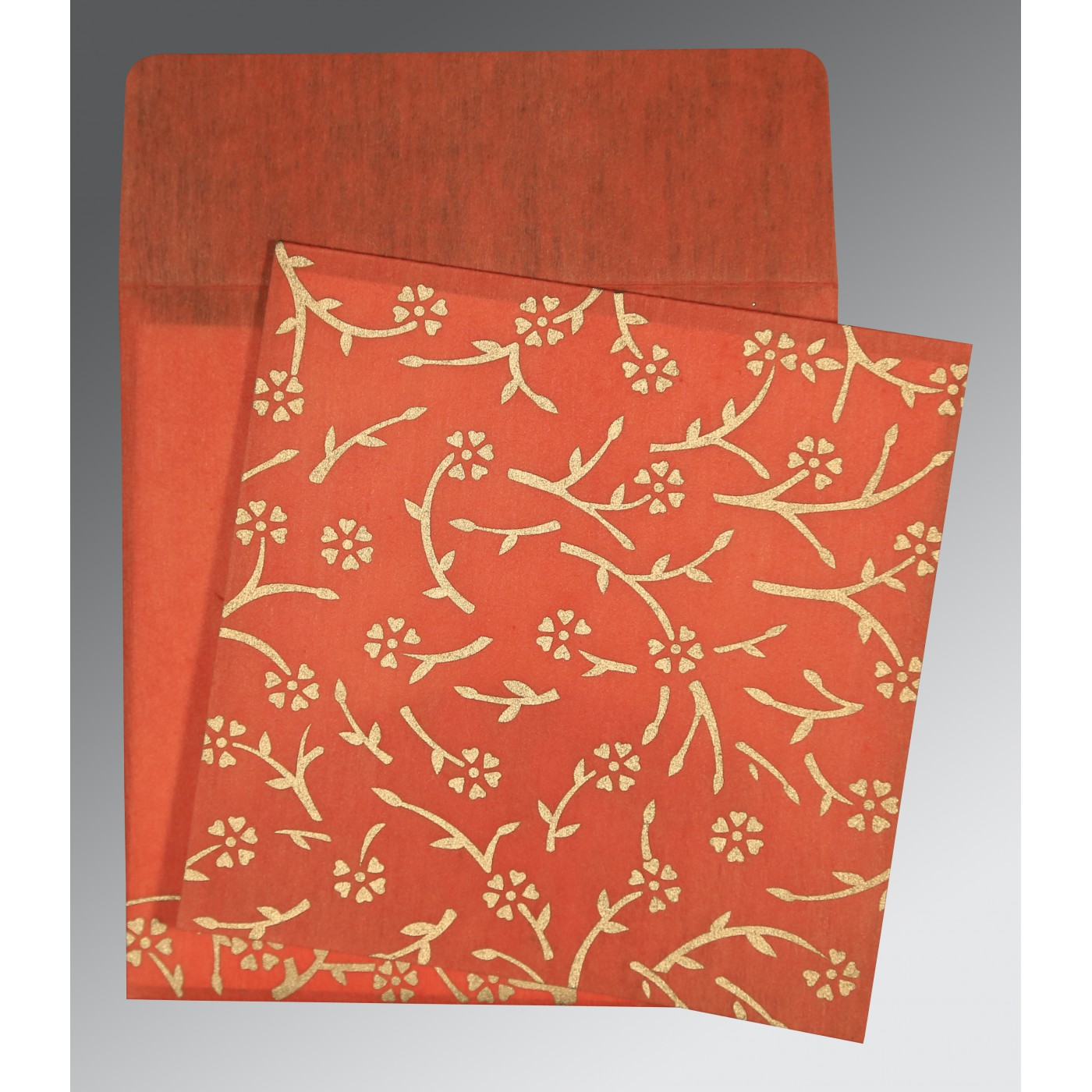 AUTUMN ORANGE WOOLY FLORAL THEMED - SCREEN PRINTED WEDDING ...
