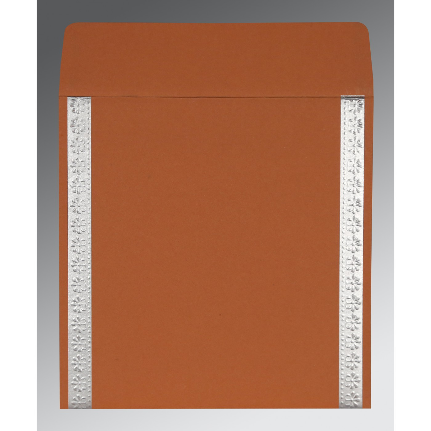 BROWN RUST MATTE EMBOSSED WEDDING INVITATION : D-8231E - 123WeddingCards
