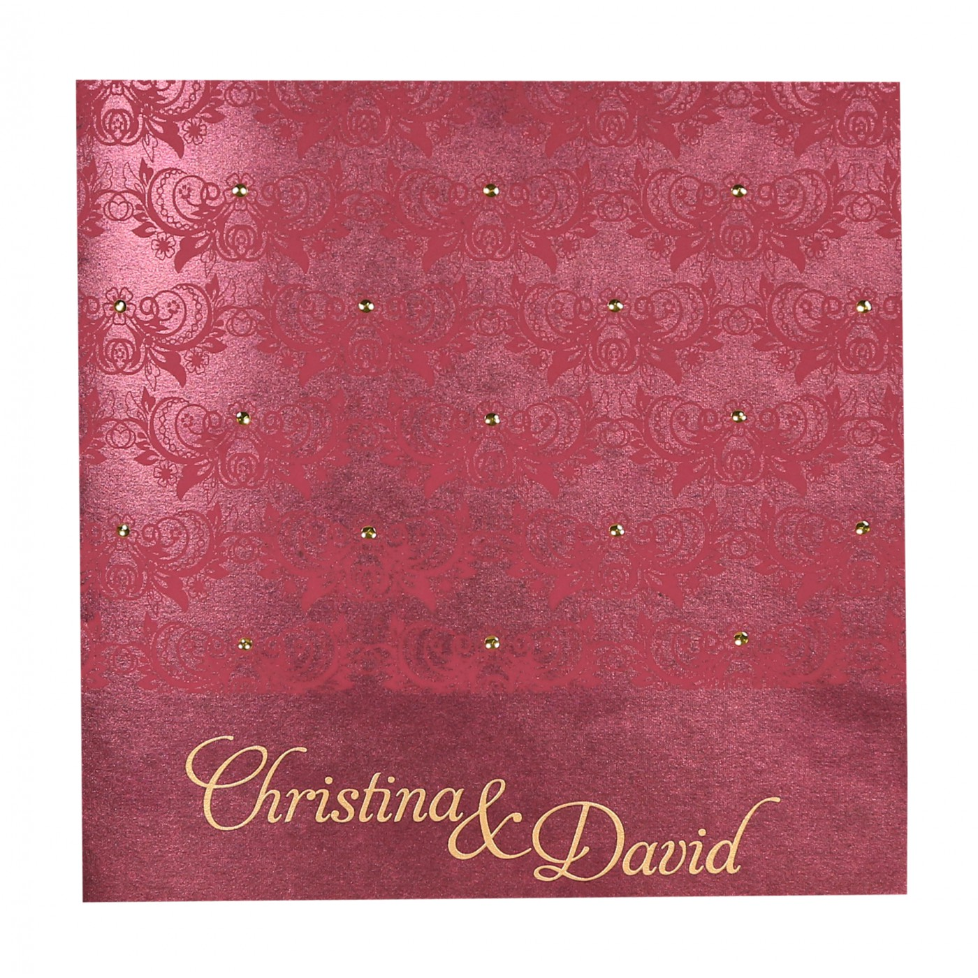 DARK RED SHIMMERY BUTTERFLY THEMED - SCREEN PRINTED WEDDING CARD : D ...
