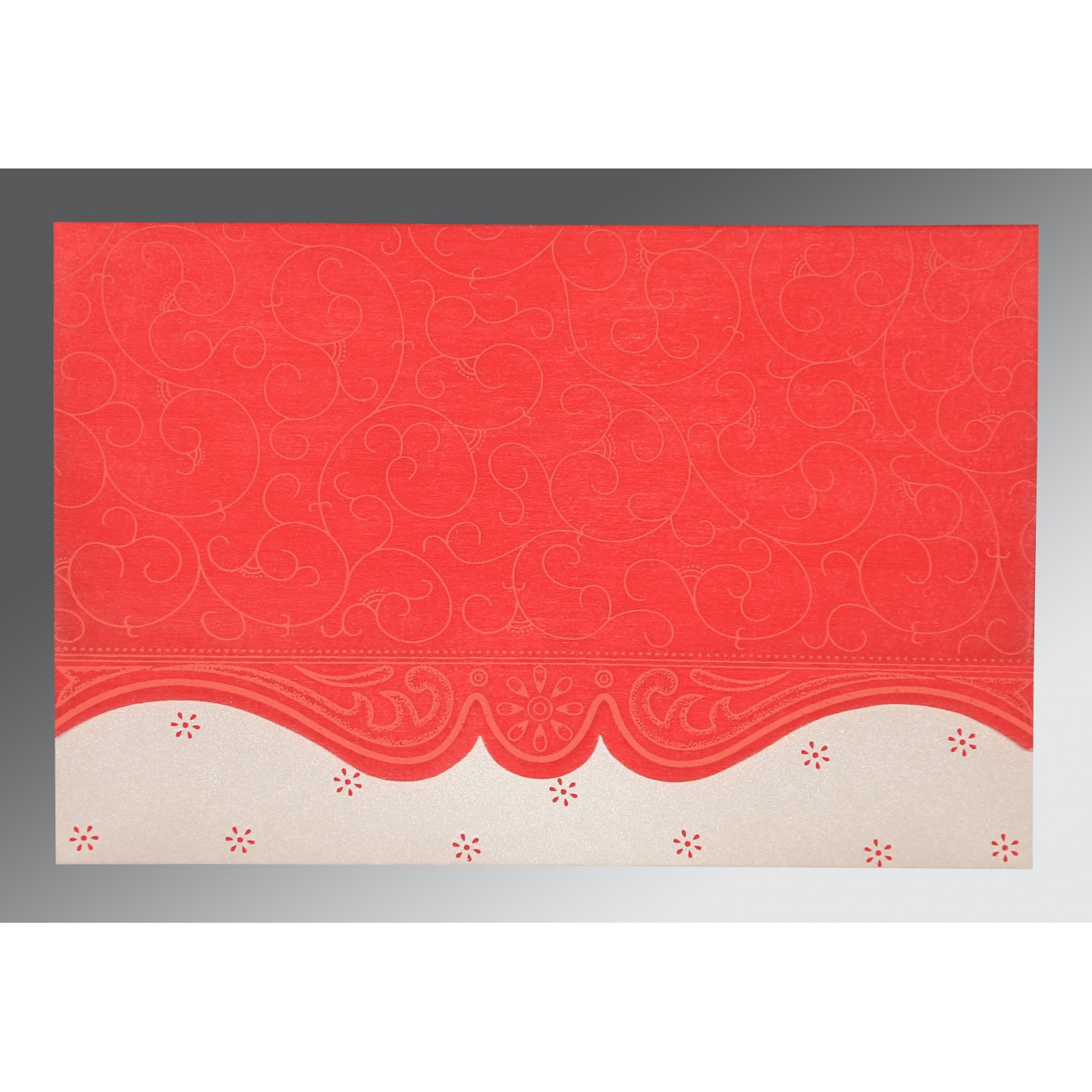 SCARLET MATTE EMBOSSED WEDDING INVITATION : IN-8221J - 123WeddingCards