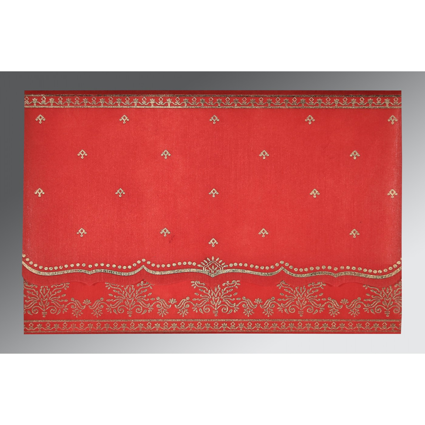 IMPERIAL RED WOOLY FOIL STAMPED WEDDING INVITATION : SO-8241Q ...