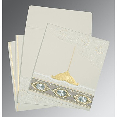Black Matte Box Themed - Foil Stamped Wedding Card : G-1228 - 123WeddingCards