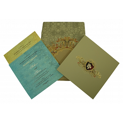 Black Matte Box Themed - Foil Stamped Wedding Invitation : RU-1836 - 123WeddingCards
