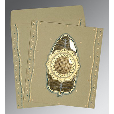 Black Matte Embossed Wedding Card : D-1194 - 123WeddingCards