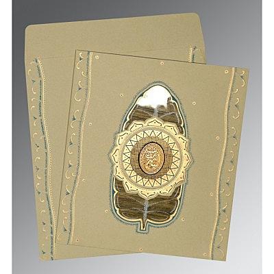 Black Matte Embossed Wedding Card : I-1194 - 123WeddingCards