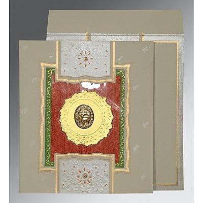 Black Matte Embossed Wedding Card : S-1144 - 123WeddingCards