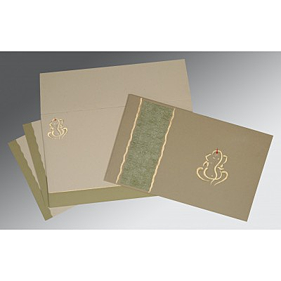 Black Matte Embossed Wedding Card : W-2117 - 123WeddingCards