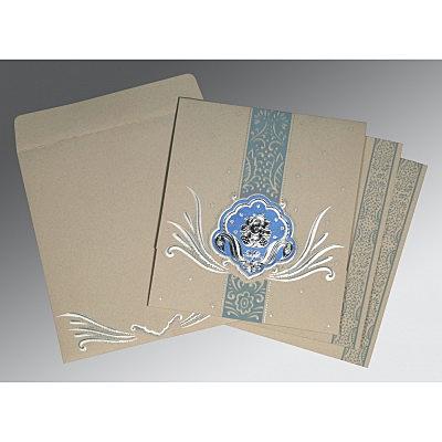 Black Matte Foil Stamped Wedding Invitations : W-2165 - 123WeddingCards