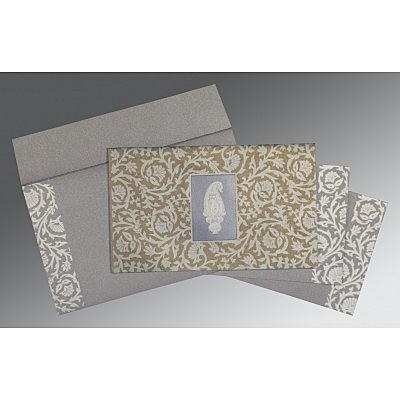 Black Screen Printed Wedding Invitations : D-1371 - 123WeddingCards