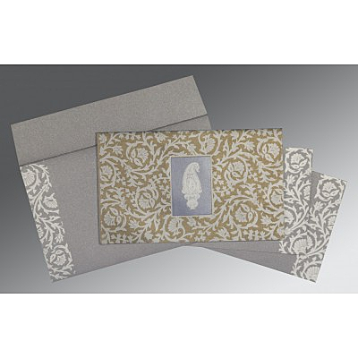 Black Screen Printed Wedding Invitations : I-1371 - 123WeddingCards